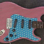 Custom Stratocaster - 3 Hot Rail Humbuckers - Midrange Shaper USA Flag Design - Sold with Hardcase