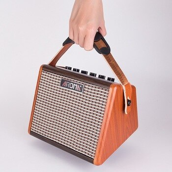 Wireless Bluetooth Small Audio Aroma Portable Wooden Guitar Folk Speaker Outdoor Playing Karaoke Rechargeable