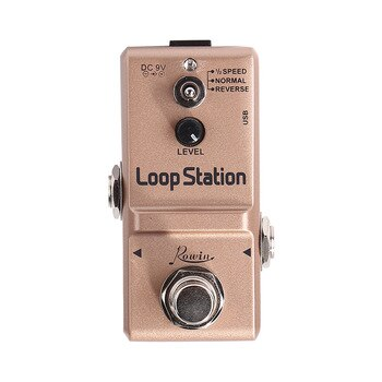 Rowin Portable Zinc Alloy Guitar Recording Effect Pedal DC 9V Looper Station Unlimited Overdubs Musical Instruments Accessories