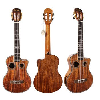 Mr.mai ML-T Tenor Ukulele 26 inch Ukulélé Koa Wood Mini Hawaii Guitar Double Sound Hole Ukeleles With Gig Bag/Tuner/Strap/Capo