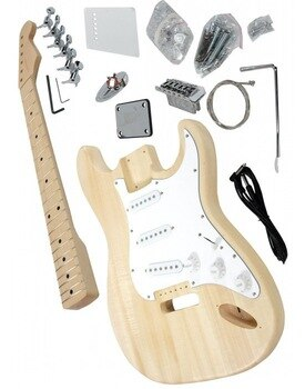 Free shipping selectric guitar kit/unfinish guitar/Diy electric guitar with basswood body