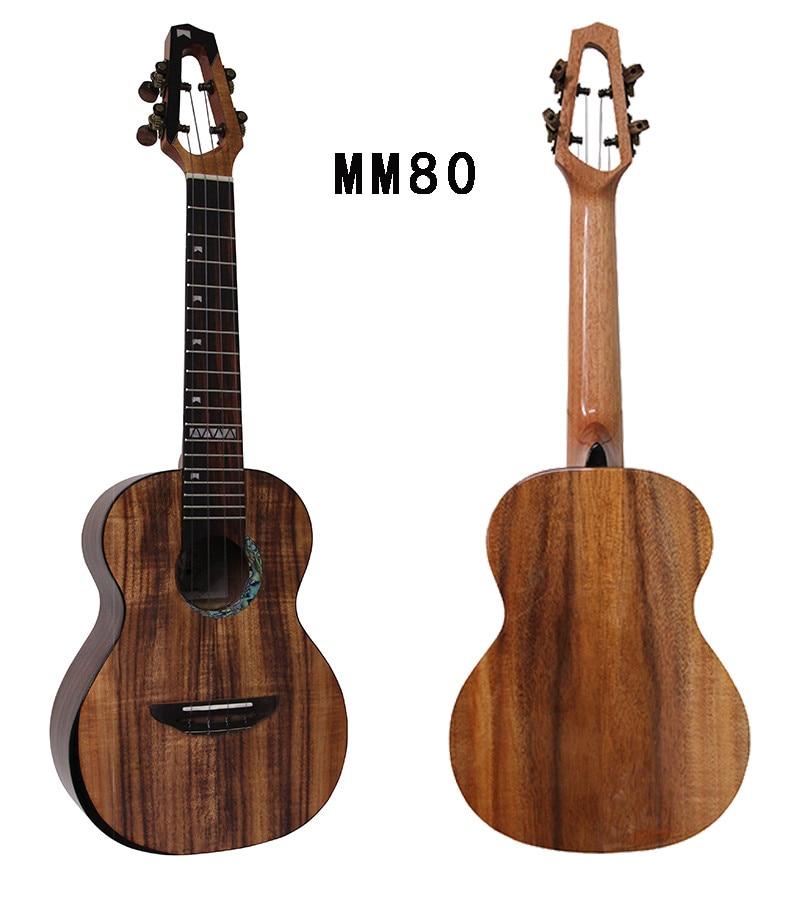 Mr.mai MM80 23 Inch Concert Ukulele Solid Koawood Ukulélé Mini Hawaii Guitar With Hard Case/Belt/Tuner/Capo